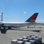 デルタ航空便に搭乗、成田からポートランド経由でスポケーンへ